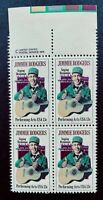 US Stamps, Scott #1755 13c 1978 Jimmie Rodgers Issue block of 4 XF M/NH