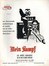SYNOPSIS Original MEIN KAMPF Adolf Hitler Erwin Leiser Léon Zitrone