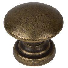 """GlideRite 1"""" Round Convex Cabinet Hardware Drawer Knob Antique Brass - 5264-AB-1"""