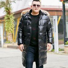 Winter Men Hooded Fur Collar Hooded Puffer Coat Duck Down Jacket Outwear M-10XL
