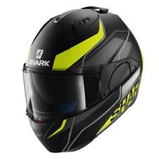 Shark Evo-One Krono Mat Flip Front  Motorcycle Helmet - Matt Black / Yellow