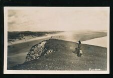Wales Carmarthenshire PENDINE General view RP PPC Used 1933 local pub Squibbs