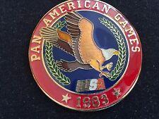 1983 USA Pan Am / American Team Belt Buckle Cover; Beautiful Cloisonne Detail