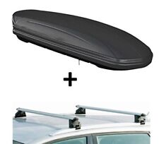 Dachbox MAA320L matt+Dachträger CRV120A für Audi A6 SW C7 5Türer ab 11