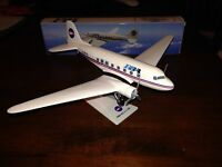 New Provincetown Boston Airlines (PBA) DC-3 MODEL Airplane 1/100 Scale