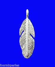 45 Pendentifs Breloques en Forme de Plume Charms Bijoux Accessoire 9x30mm