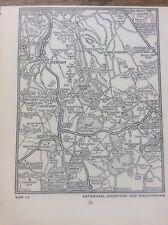 Caterham Godstone Woldingham c1920 Map London South of the Thames 5x4�