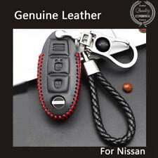 Men's Women's Genuine Leather Car Key Case Wallet Holder Case Cover for Nissan
