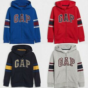 NWT GAP Kids Boys Arch Logo Zip-Up Hoodie Sweatshirt Activewear NEW U-PICK