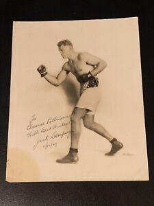 1929 Jack Dempsey Signed 8x10 Studio Boxing Photo JSA COA Amazing Vintage Piece