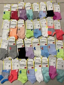 Under Armour UA Training Cotton No Show Ankle Socks 12 PACK -FREE SHIP Womens