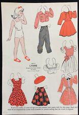 1948, Lynne Mag. Paper Dolls, Wee Wisdom Mag.,Dorothy Wagstaff Artist