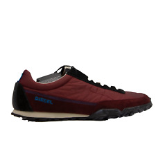 DIESEL S-Pagodha Low Top Mens Fashion Sneakers Cabernet Black Size 10.5 New