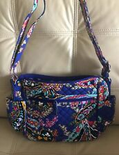 "New Vera Bradley Iconic ""On the Go"" Crossbody shoulder Bag in Romantic Paisley"