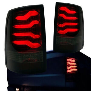 2009-2017 Dodge Ram 1500 2500 3500 Taillights w/ Smoke Lens Red LED Light Tube