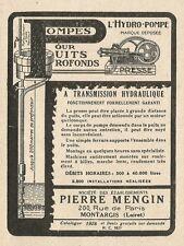 W3813 Pompe idrauliche per pozzi profondi - Pubblicità 1929 - Advertising