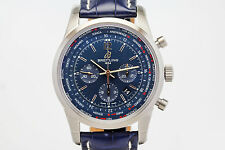 Breitling TransOcean Chronograph Unitime World Time Automatic 46mm Watch AB0510
