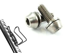 2 x Titanium M5x14mm Bottle Cage Bolts with Washer