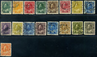 Canada #104-122 used mostly VF 1911-1925 King George V Admiral Set CDS CV$80.00
