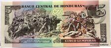 HONDURAS billet neuf 5 LEMPIRAS BATAILLE TRINIDAD  UNC 2010