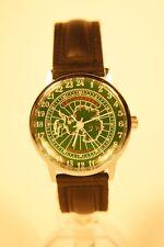 Mechanical watch RAKETA ANTARCTICA 24-HOUR. New. Green dial. Case 34mm
