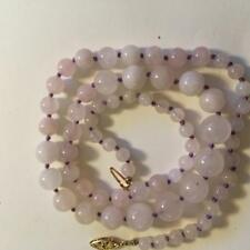 Gorgeous lavender Jade  beaded hand knotted necklace