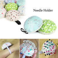 Storage Home Supplies Wrist Strap Floral Needle Holder Sewing Pin Cushion