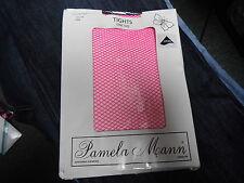 Pamela Mann Pink One Size Fishnet With Lycra Tights