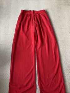Reiss Size 10 Red Long Trousers