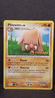 Pokemon Card Prerelease Piloswine - Stormfront - Uncommon Promo, Light Play