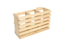 T&G Woodware Cutlery Holder In Hevea FREE DELIVERY 10090