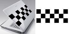 Pegatina Vinilo corte cuadros racing 25x10cm. duración en exterior > 10 años