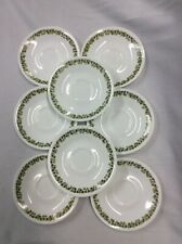 Vintage Pyrex Corelle Ware Green Crazy Daisy Spring Blossom 8 Saucers