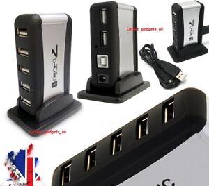 7 PORTS USB MULTI HUB SPLITTER - NOTEBOOK/MAC/DESKTOP/XBOX 360/TABLET/PHONE/PC