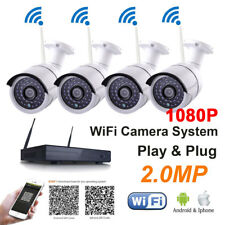 4CH HDMI NVR HOME SECURITY SYSTEM 4PCS 1920*1080P CCTV wifi Wireless IP Camera