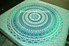 Indian Bohemian Mandala Cotton Bed Duvet Cover and Two Pillow Covers Bedding Set