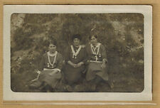 Carte Photo vintage card RPPC 3 bonnes soeurs religion bt034