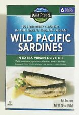 Wild Planet Wild Pacific Sardines In Extra Olive Virgin Oil 4.4 oz Cans 6 Ct