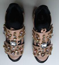 NIB Authentic DOLCE & GABBANA Jeweled Crystal Embellished Sneakers  SZ 35 EU