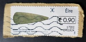 Ireland: Post & Go; History in 100 Objects; Ceremonial axehead 90c fine used