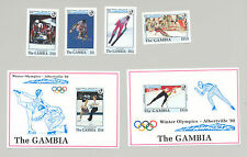 Gambia #1276-1281 Winter Olympics, Skiing, Skating 4v & 2v S/S Imperf Proofs