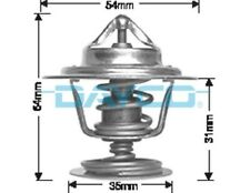 Thermostat for Volvo V70 B5252S Feb 1997 to Oct 1998 DT36A