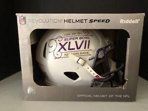 NEW ORLEANS SAINTS FULL SIZE NFL RIDDELL SPEED FOOTBALL HELMET SUPER BOWL XLV11