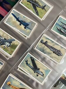 "Gallaher Cigarette Cards 1939 ""Aeroplanes"" Full Set 48"