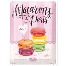 Blechschild 23221 - Macarons De Paris - 30X40 cm - Neu