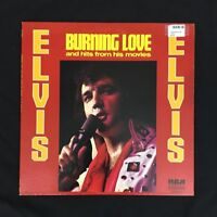 ELVIS PRESLEY BURNING LOVE AND HITS FROM HIS MOVIES LP RECORD CAS-2595 EX VINYL