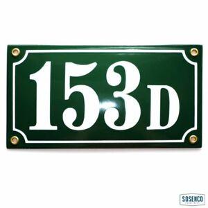 Porcelain address plaque 4.7x8.7″ customisable handmade enamel house number sign