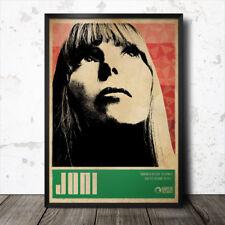 Joni Mitchell Folk Music Art Poster 60's Bob Dylan Woody Guthrie Joan Baez