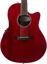 Ovation CS28-RR Celebrity Standard Acoustic Electric Guitar in Ruby Red