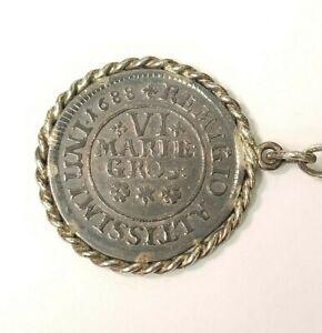 Germany Brunswick Wolfenbuttel 6 Marien Groschen 1688 Wildman Silver keychain